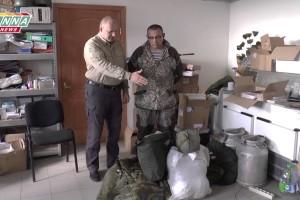 Очередная партия мат. помощи передана представителям 1-го батальона территориальной обороны ЛНР
